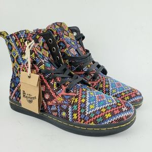 NWT Dr. DOC Martens Hackney Aztec Weave Boots 7